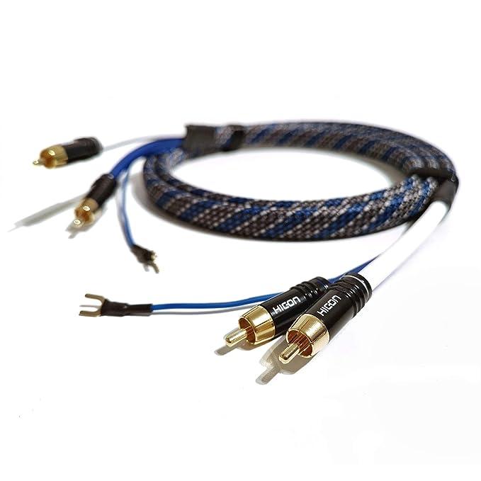 SC81-K3-V-Blue-0100 - Cable RCA (1 m, Cable de conexión de Tierra ...
