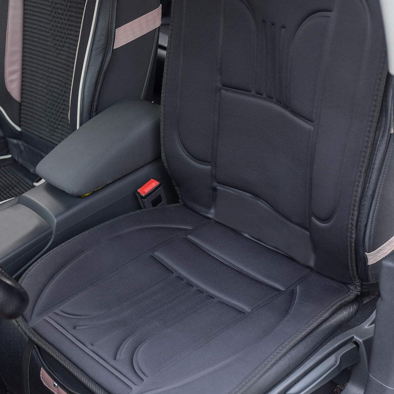 EUGAD 0001JRD Sitzheizung Auto 12 V Heizung f/ür Sitz /& R/ücken Vordersitz /Überhitzungsschutz Schwarz 49 x 97,5 cm