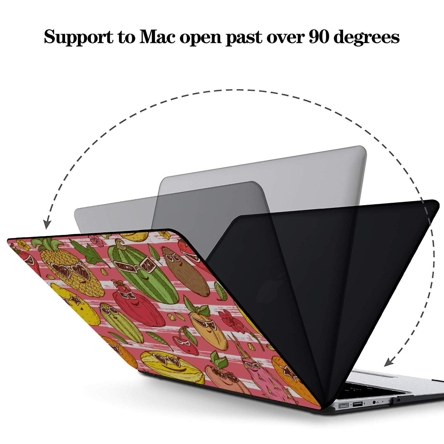 Cover MacBook Pro Summer Fashion Fruit Dragon Love Plastic Hard Shell Compatible Mac Air 11 Pro 13 15 MacBook Pro 13inch Case Protection for MacBook 2016-2019 Version