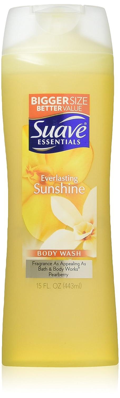 Suave Essentials Body Wash, Everlasting Sunshine, 15 Fl Oz (Pack of 6)