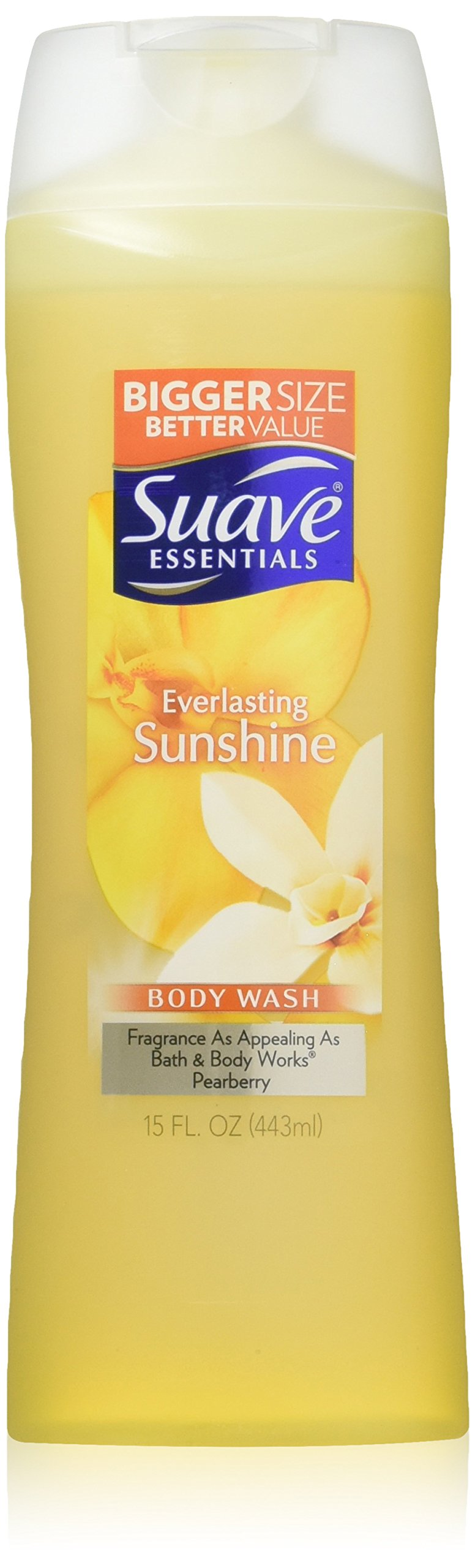 Suave Essentials Body Wash, Everlasting Sunshine 15 Ounce (Pack of 6)