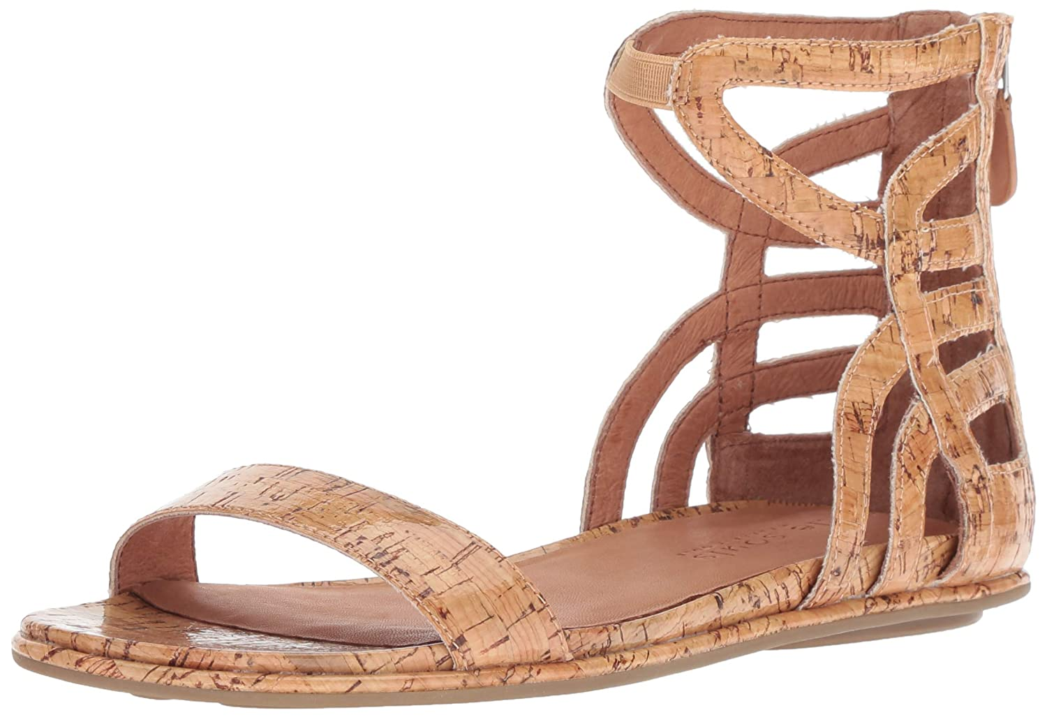 9741c35b2ce Amazon.com  Gentle Souls Women s Larisa Flat Sandal with Gladiator Ankle  Straps  Shoes