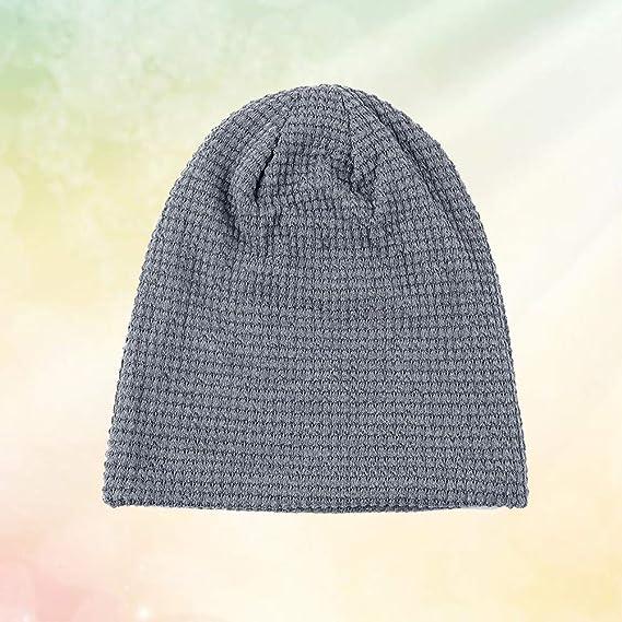 cf699e082d26 VORCOOL Hiver Chaud Unisexe Hiver Chapeau Bonnet Bonnets Chapeau Chapeau  pour Hommes Femmes Filles Garçons (Gris Clair)  Amazon.fr  Cuisine   Maison