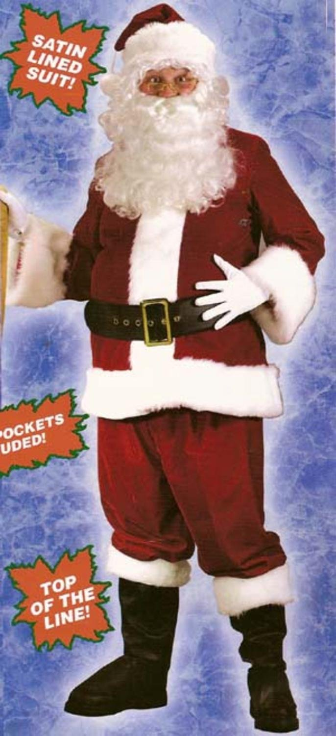 Super Deluxe Velvet Santa Suit Adult Costume - X-Large by Rubie's