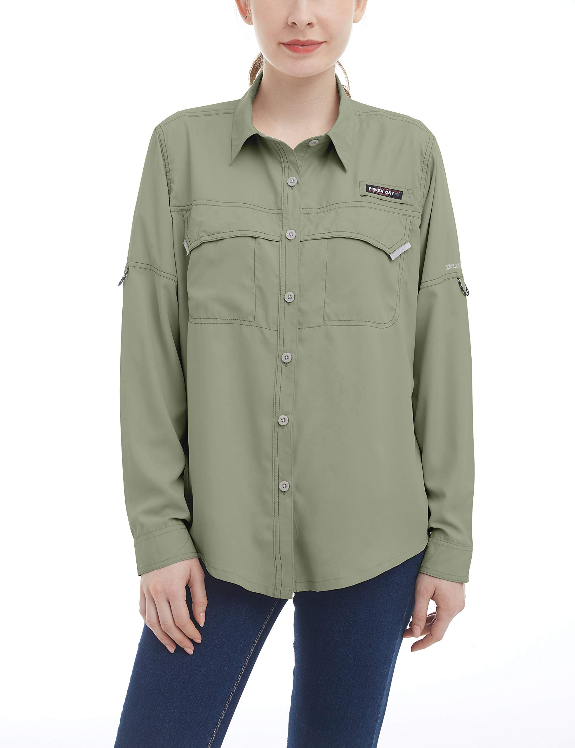 Little Donkey Andy Women's UPF 50+ UV Protection Shirt, Long Sleeve Fishing Shirt, Breathable and Fast Dry Tea XS by Little Donkey Andy