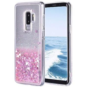 Galaxy S9 Plus Funda Líquido, Purpurina Brillante Carcasa ...