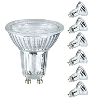 Lampwin® - GU10 bombillas LED 6 Pack 5W (50W equivalente) Bombillas halógenas AC