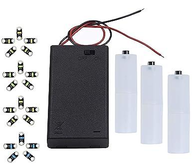 AMX3d Lilypad Arduino 20 LED de color y soporte de pilas AA/AAA ...
