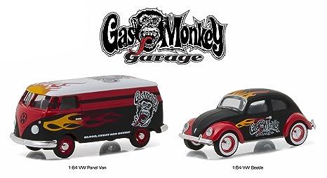 Amazon Com Volkswagen Panel Van And Volkswagen Beetle Set Of 2 Gas