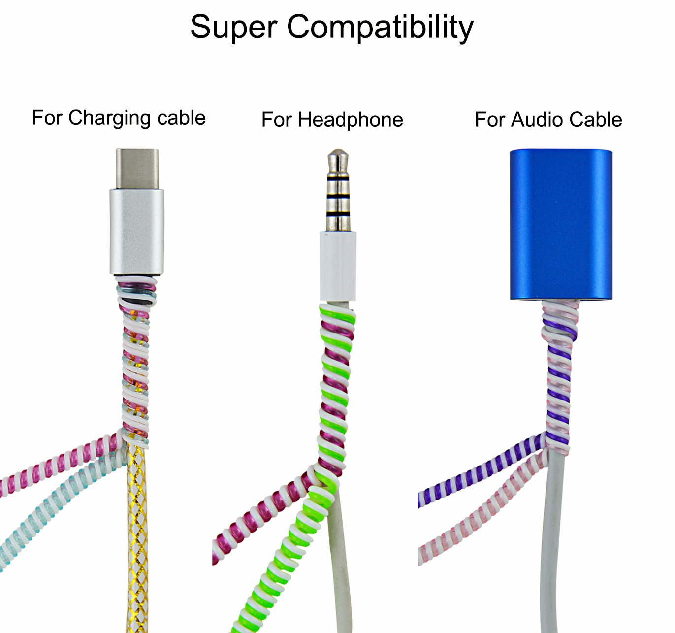 Amazon.com: Rancco Wire Protectors Headphone Cable Saver, 8 Pcs 50cm ...