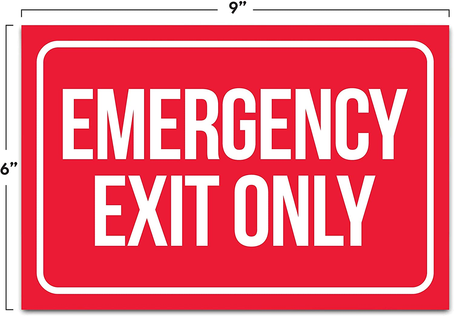 FreeP/&P Stickers// Adhesive Warning /& Escape Signs Exit for emergency use only
