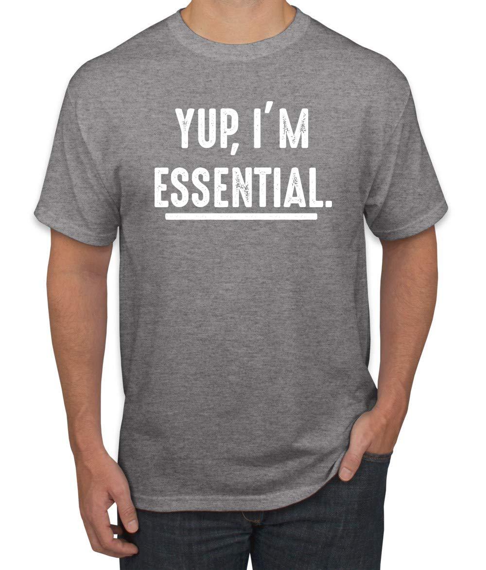 Yup I'm Essential Worker 2020 Anti Virus Flu Pan-demic Job Work   S Graphic T-shirt
