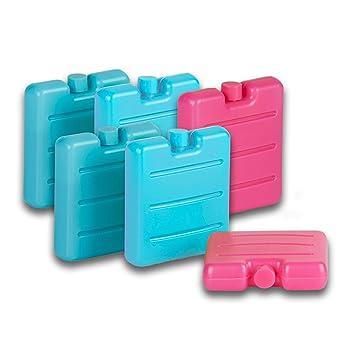 Tradingo Mini Nevera batería - Juego de 6 en Rosa, Verde y ...