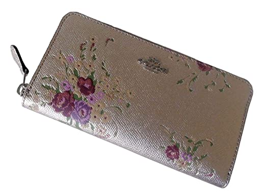 45373e72c22b Image Unavailable. Image not available for. Color  COACH ACCORDION ZIP  WALLET WITH FLORAL ...