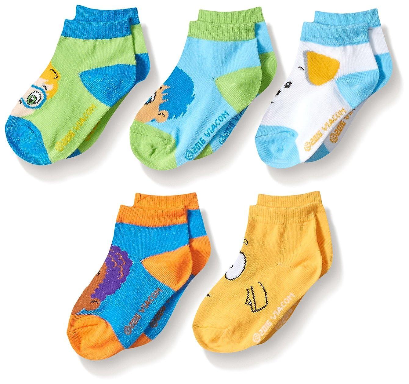 Nickelodeon Little Boys' 5 Pack Socks 740151