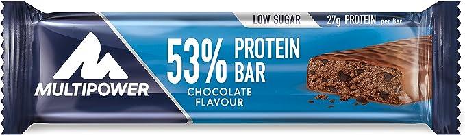Multipower 53% Protein Bar, Sabor Chocolate - 24 Barras