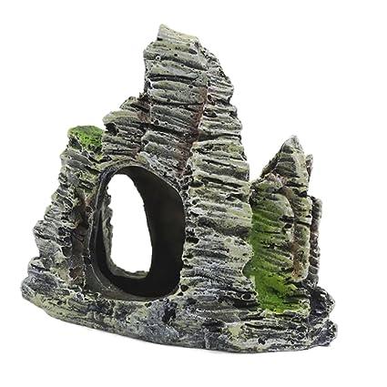 MagiDeal Resina Artificial Montaña de Piedra para Decoración Tanque de Peces de Acuario Ornamento