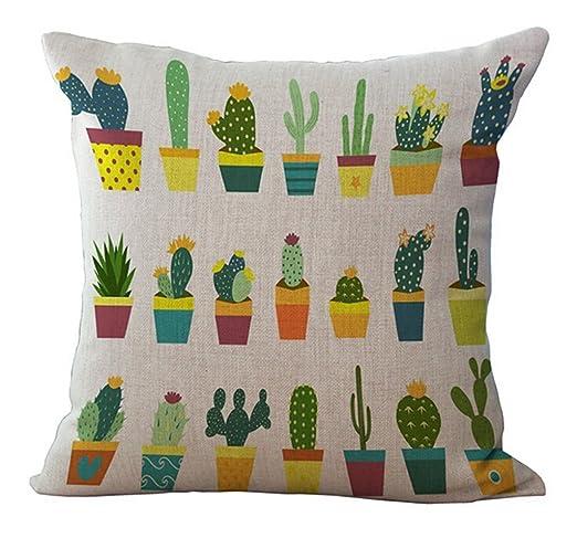Fundas de cojín creativas Cactus Tropical Almohada Caso de ...