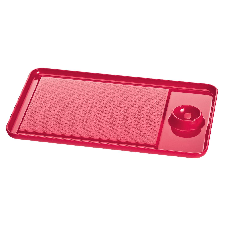 Koziol 3074583Egg Breakfast Board, Solid Raspberry Red