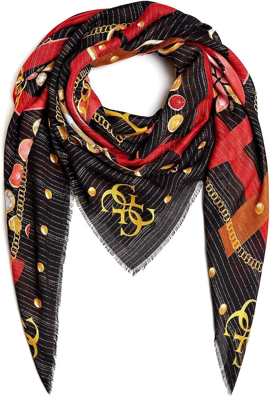 Guess Foulard sciarpa Kefiah donna multicolor 130X130 cm