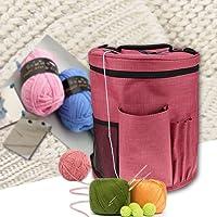 Pueri Garn Aufbewahrungstasche Tragbare Stricken Tasche für Garn Handarbeitstasche zum Stricken / Häkeln