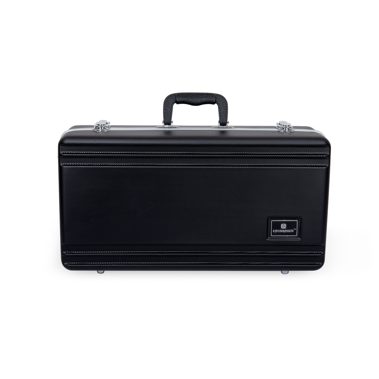 Crossrock CRA860TRBK Trumpet, Rectangular ABS Molded Hard Shell Case with Padded Strap in Black
