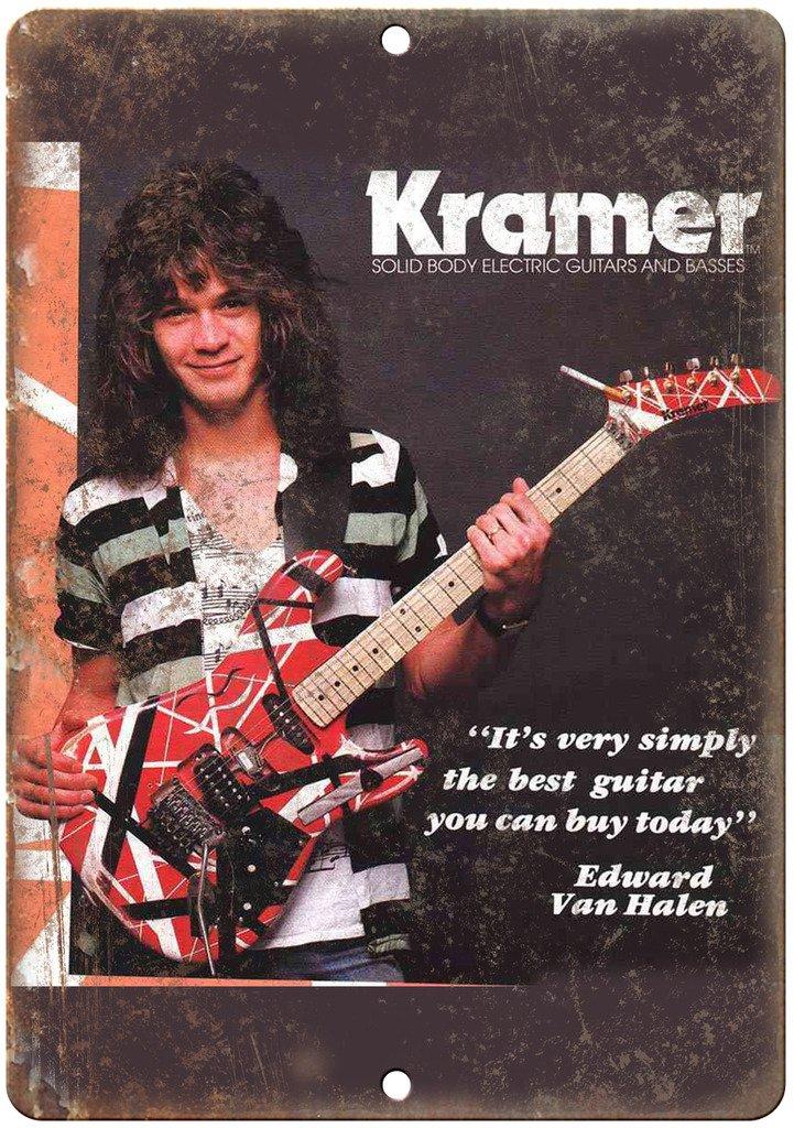 Adkult Kramer Electric Guitars Edward Van Halen 10'' X 7'' Reproduction Metal Sign R21 by Adkult