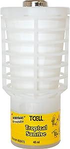 Rubbermaid 402472 TCell Microtrans Odor Neutralizer Refill, Tropical Sunrise, 48 ml, 6/Carton