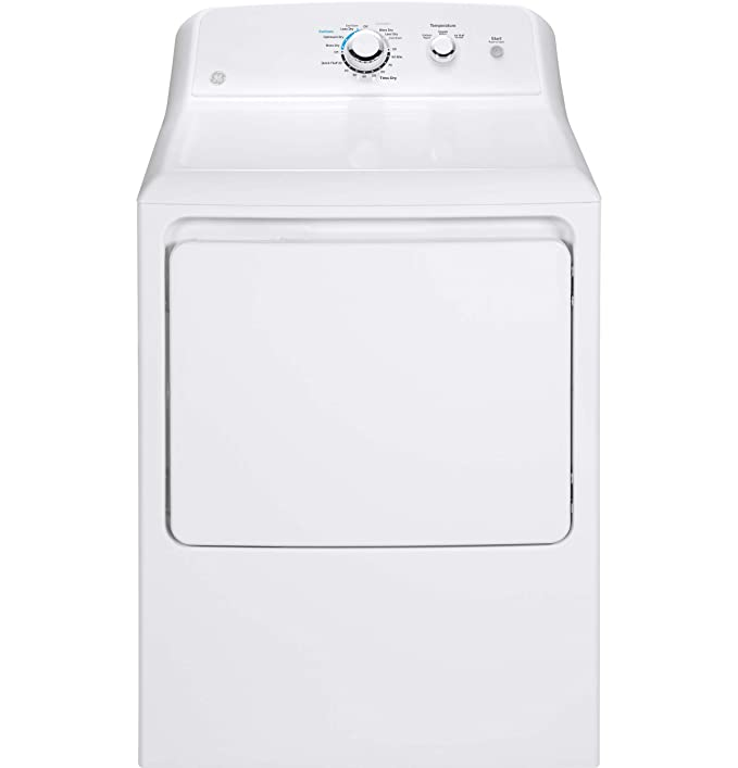 GE GTX33GASKWW Aluminized Alloy Drum Gas Dryer, 6.2 Cu. Ft. Capacity, 3 Cycles, White, best gas dryers