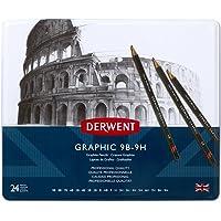 Lápis Grafite Graduado Graphic Pencils Estojo com 24 Unidades 9B à 9H Ref.34202 Derwent