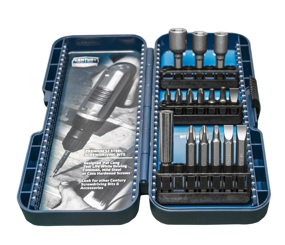 16 Piece Century Drill /& Tool Corp Century Drill and Tool 69016 Screwdriver Bit Set