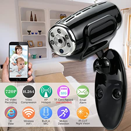 Amazon.com : Mini HD 720P Wireless IP Camera Wifi AP Hotspot Connection P2P Wifi Camera Support TF Card CCTV Security Surveillance Camera : Everything Else