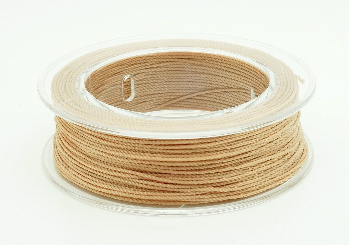 BEIGE 0.3mm 100% Nylon Twisted Thread Beading Crochet Hand Craft Artisan String - 85yards Spool Craft & Beads