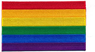 40x 25mm Rainbow Flag LGBT Pride Flag Sew-On Badge/Iron-On Patch 1035A