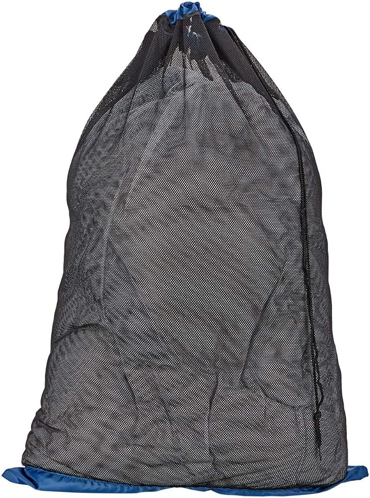 """HOMEST Mesh Laundry Bag with Handles 24""""x38"""", Heavy Duty Drawsting Bag for College, Dorm, Travel, Outdoor (Blue)"""