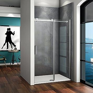 145x195cm 6mm Klarglas Dusche Duschabtrennung Duschwand Schiebet/ür Nischent/ür ohne Duschtasse