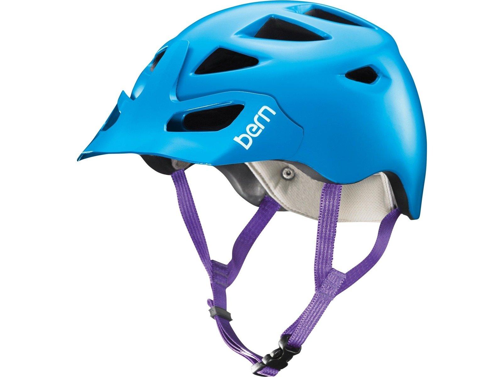 Bern Prescott Helmet with Visor (Satin Blue with Breakaway Visor, XS/S)