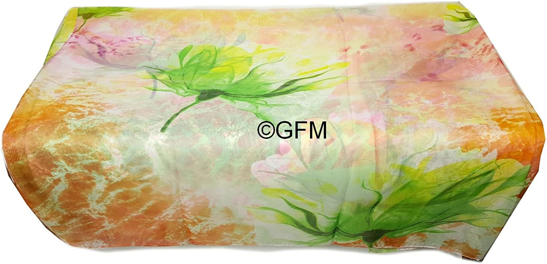 GFM/® lebendige bunte Bl/ätter floral gro/ßen Chiffon Sommerschal