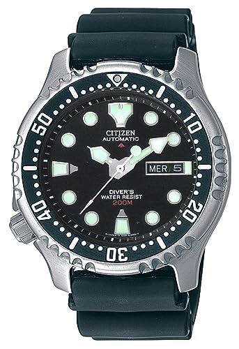 Citizen NY0040-09E - Reloj analógico automático para Hombre, Correa de Poliuretano Color Negro: Amazon.es: Relojes