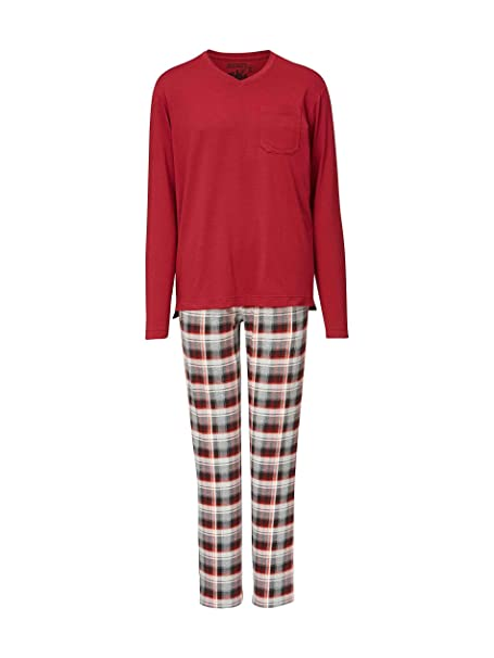 Jockey - Pijama - con Volantes - para Hombre Rojo Vino Large