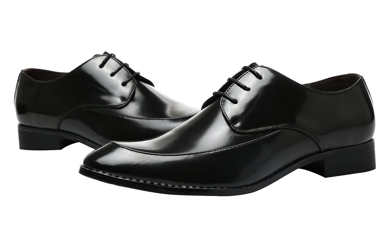 Herren Derby-Schuhe Schnürhalbschuhe Retro Klassiker Oxfords Schnürer Modische Anzug Schuhe Schwarz 40 EU 6HQNIwiKys