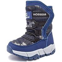IceUnicorn Bottes de Neige garçon Fille d'hiver Chaussures de Neige Mixte Enfant Chaudes Peluche en Doublué Antidérapant Bottines