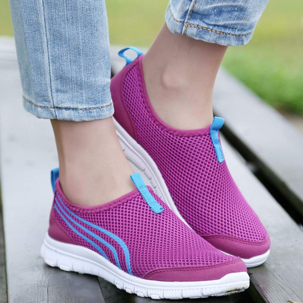 RAINED-Walking Shoes for Women Lightweight Athletic Slip-On Running Shoes Fashion Sneakers Sports Shoes Loafers