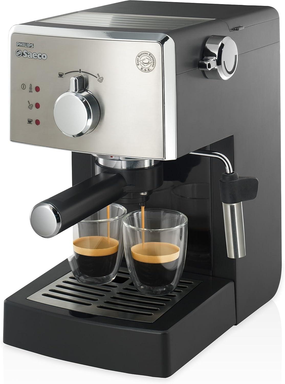 Saeco Poemia HD8425/19 - Cafetera (Independiente, Máquina espresso, 1 L, 1050 W, Negro, Cromo): Amazon.es: Hogar