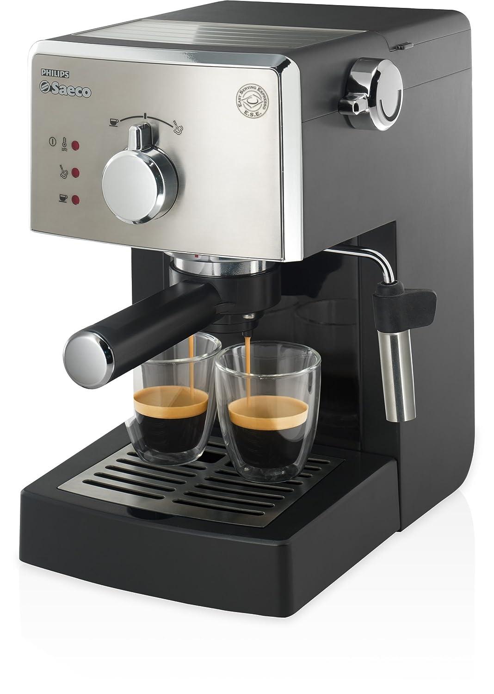 Saeco Poemia HD8425/19 - Cafetera (Independiente, Máquina espresso, 1 L, 1050 W, Negro, Cromo)