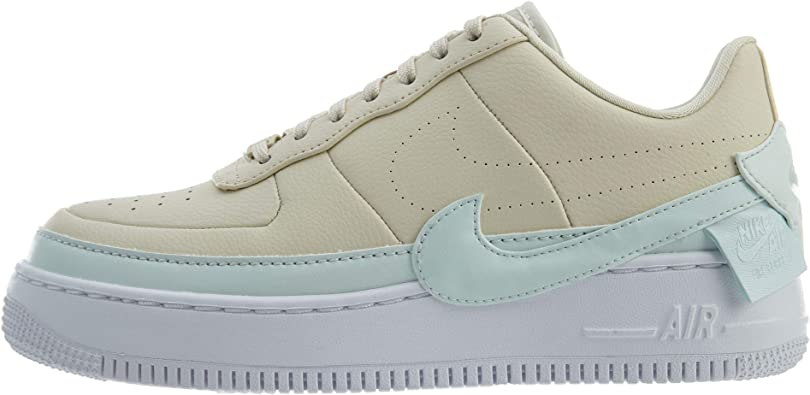 Nike Womens Air Force 1 Jester XX Light CreamWhiteGhost Aqua AO1220 201 Size 9.5