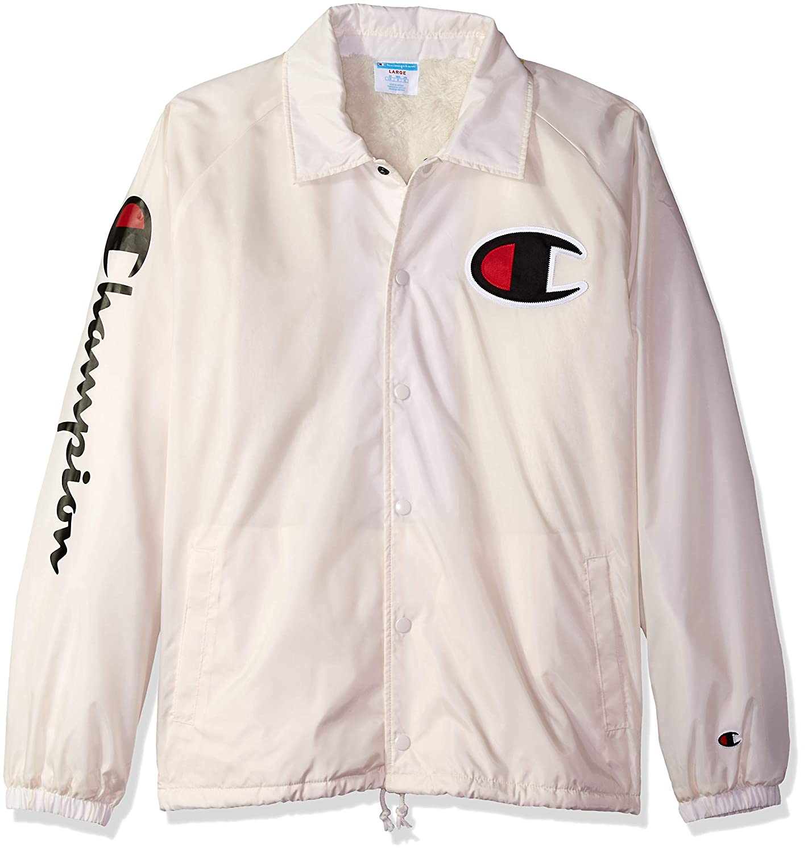 18f51b4c Amazon.com: Champion LIFE Men's Sherpa Lined Coaches Jacket: Clothing