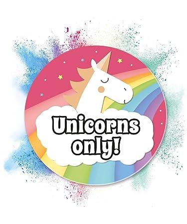 Unicornio Cartel - Unicornios Only placa para puerta ...