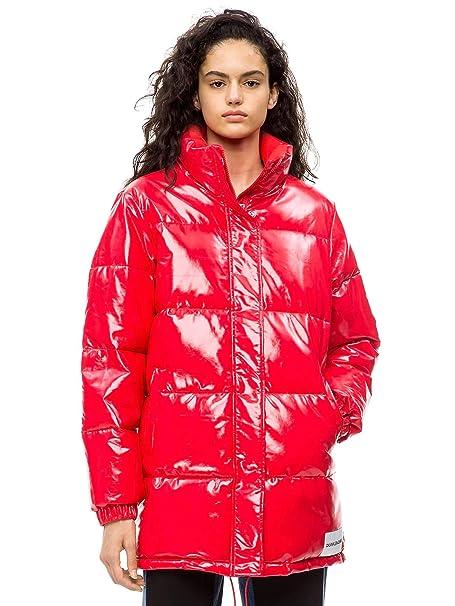 Calvin Klein J20J208579 Daunenjacke Frauen Rot M: