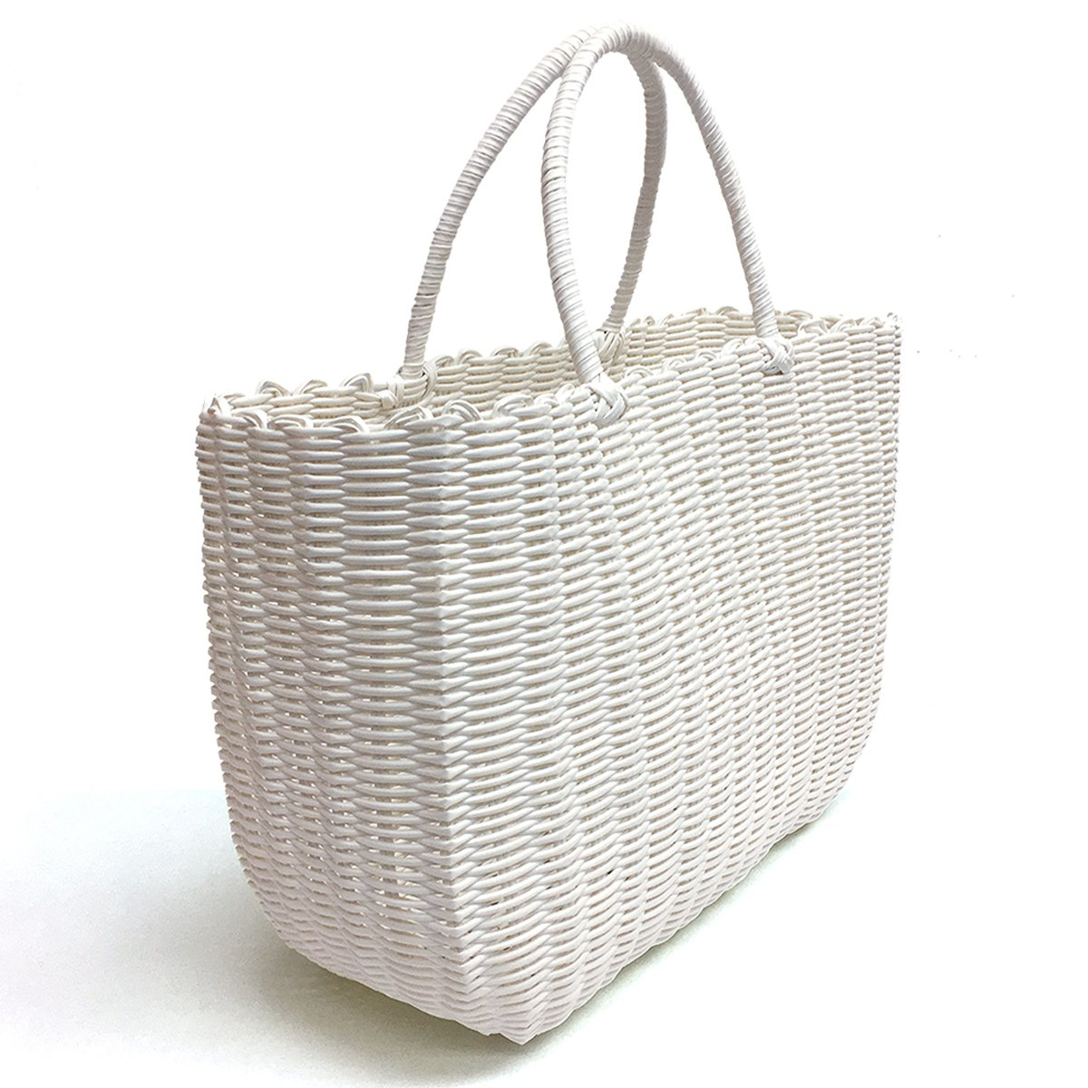 Tote Bag by Bambou, Fashion Purse Women, Waterproof Beach Bag, Ladies Shopping Bag, 100% Recycled Material (Summer White)